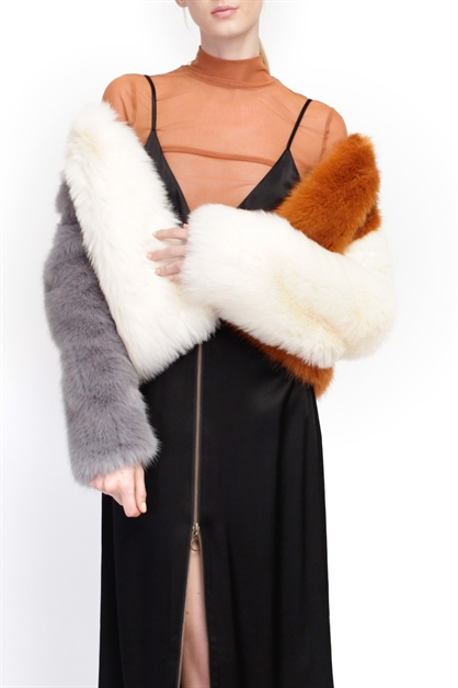 BLANCHE ECO FUR JACKET - orangeshine.com