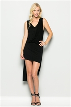 DRAPED FRONT MINI DRESS - orangeshine.com
