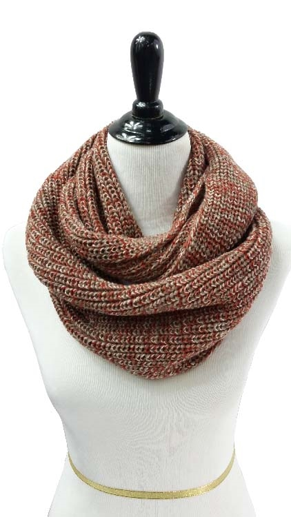 TWO TONE KNIT SCARF - orangeshine.com