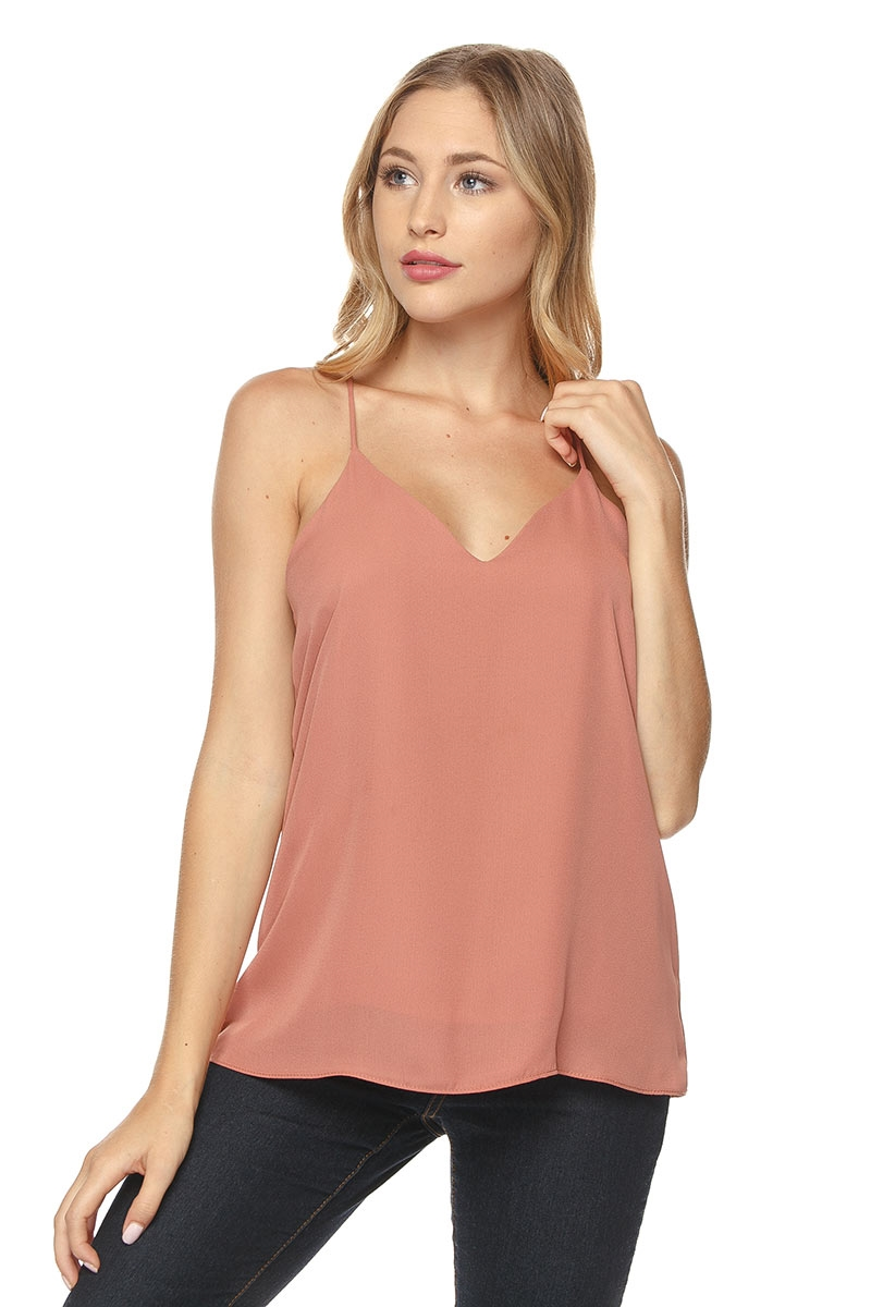 V-NECK BASIC CAMI TOP - orangeshine.com