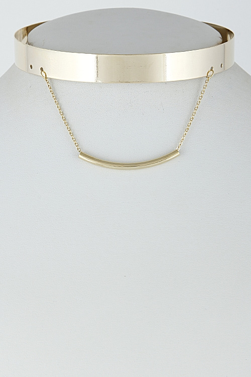 Solid Choker with Bar - orangeshine.com