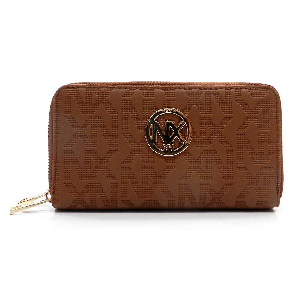 NX Embossed Double Zip Wallet - orangeshine.com