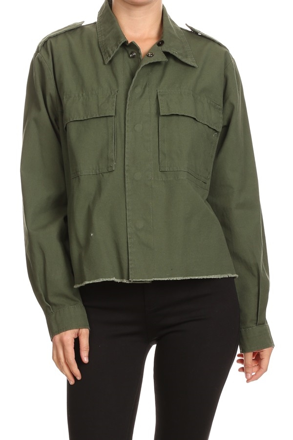 UTILITY CROP SHIRT JACKET  - orangeshine.com