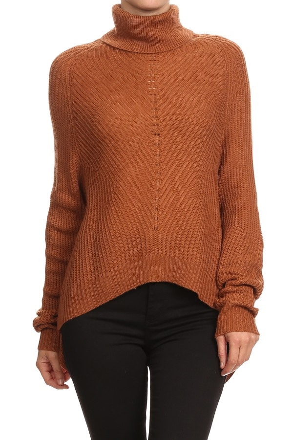 DRAPE NECK SWEATER - orangeshine.com