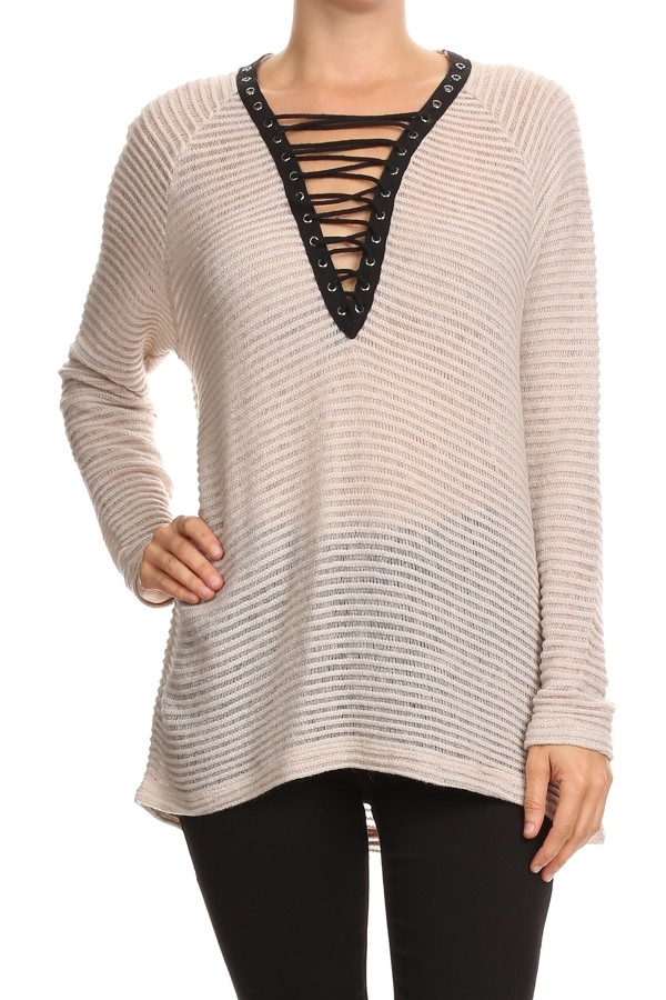 LACE UP PULLOVER - orangeshine.com