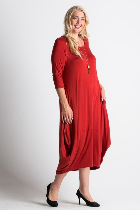midi length dress - orangeshine.com