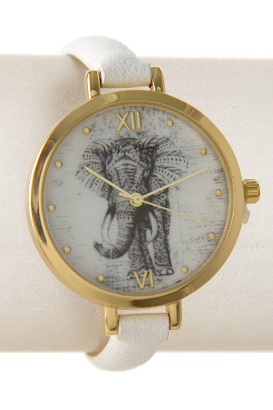 ELEPHANT DIAL LEATHER WATCH - orangeshine.com