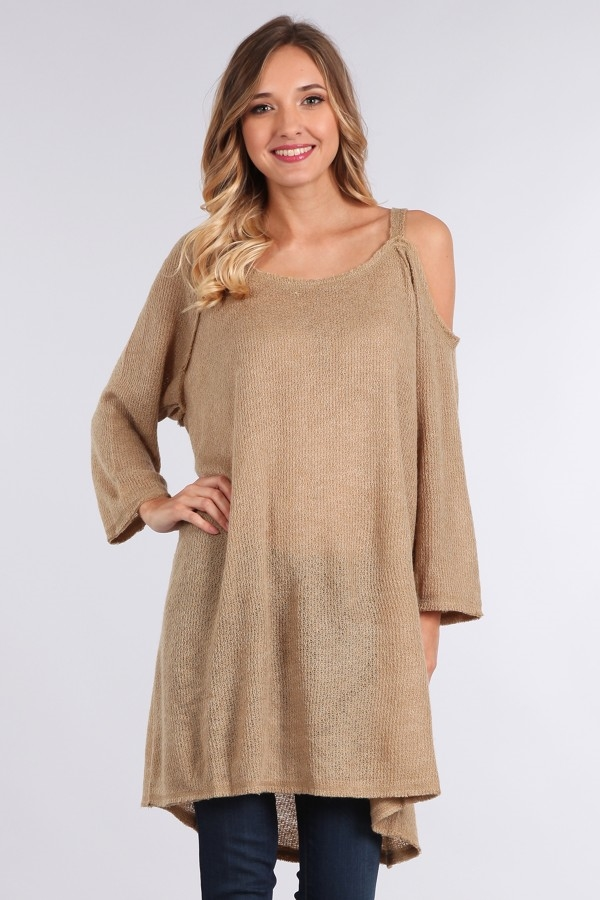 Q632A off shoulder sweater - orangeshine.com