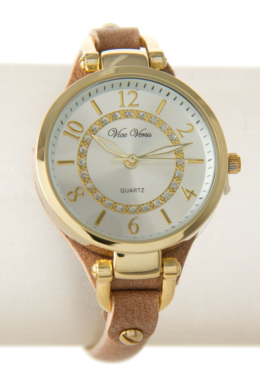 ROUND CASE STONE DIAL WATCH - orangeshine.com