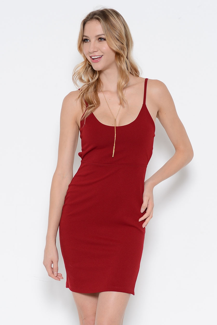 KNIT STRAPPY BACK DRESS - orangeshine.com