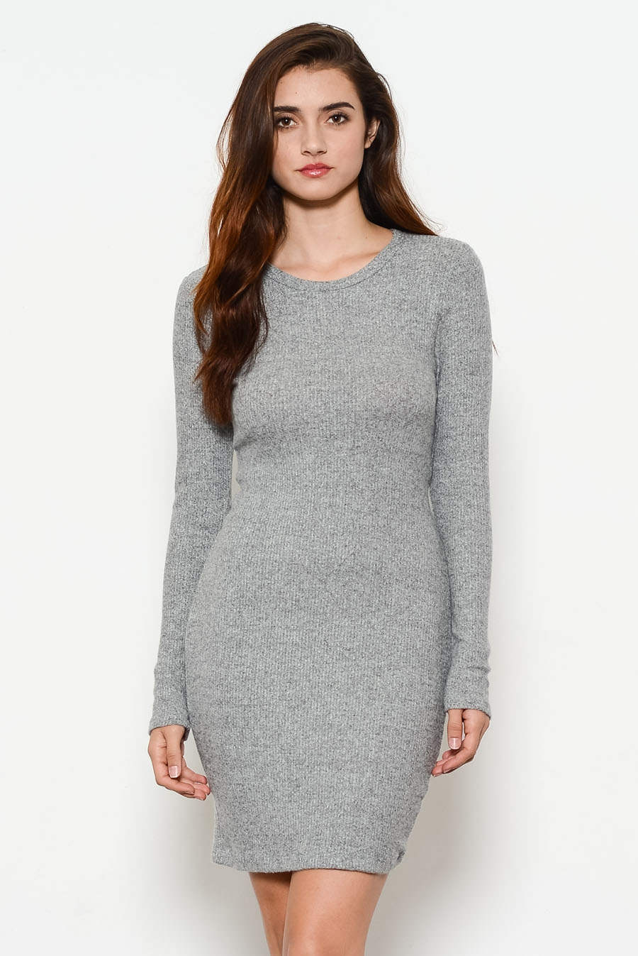 BRUST ROUND NECK DRESS - orangeshine.com
