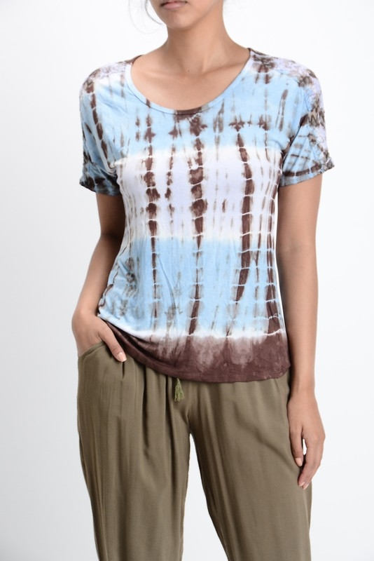 TIE DYE LACE TOP - orangeshine.com