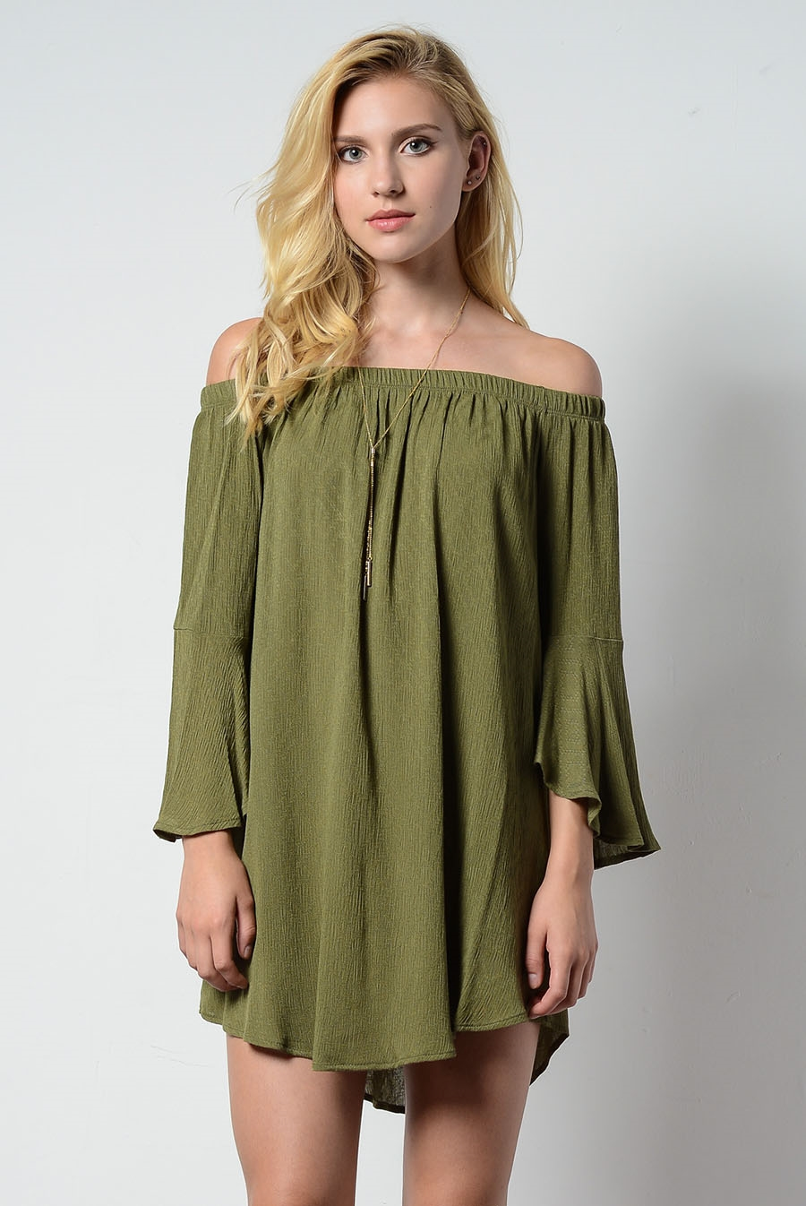 OFF SHOULDER DRESS - orangeshine.com