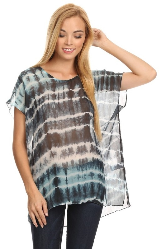 TIEDYE SILK TOP - orangeshine.com