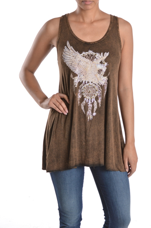 EMBELLISHED TANK TOP - orangeshine.com