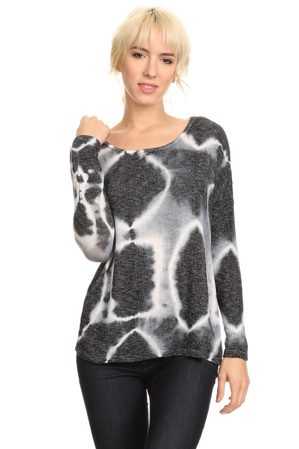 TIE DYE LONG SLEEVE TOP - orangeshine.com