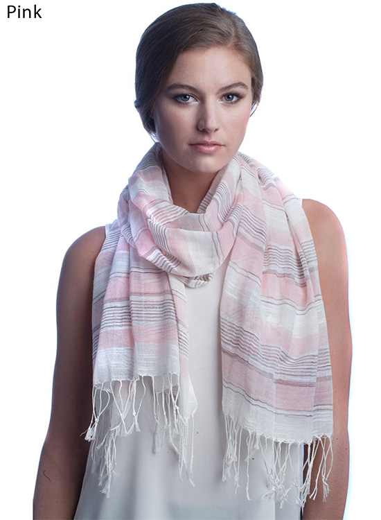 STRIPE COTTON SCARF - orangeshine.com