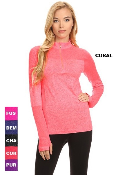 Seamless Active Pull Over - orangeshine.com