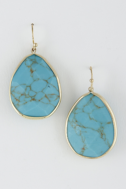 Western Stone Earrings - orangeshine.com