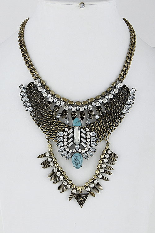 Aztec Inspired Necklace Set - orangeshine.com