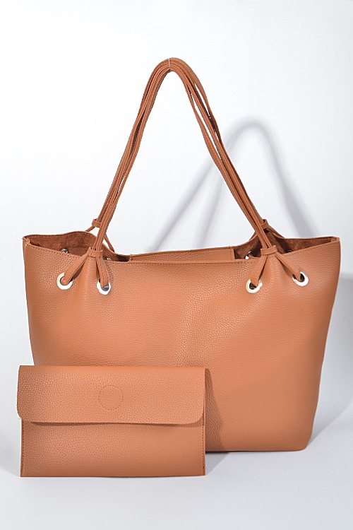 Shiny Simple Plain Hand Bag - orangeshine.com