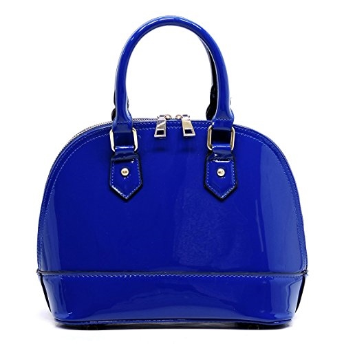 Patent Leather Dome Satchel - orangeshine.com