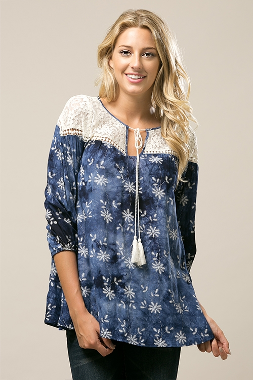 Printed Tunic Top - orangeshine.com