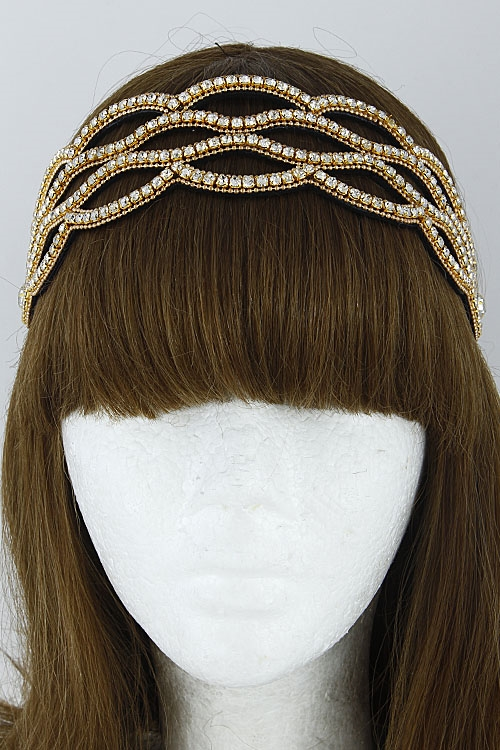 Thick Rhinestone Head Band - orangeshine.com