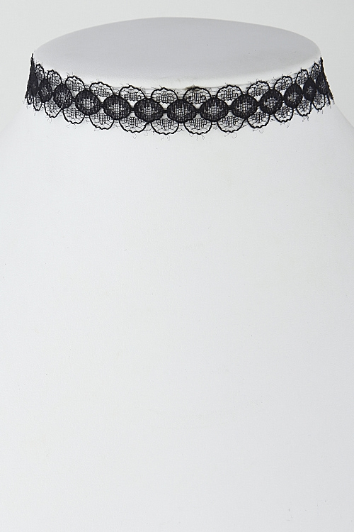 Lacy Lightly Patterned Choker - orangeshine.com