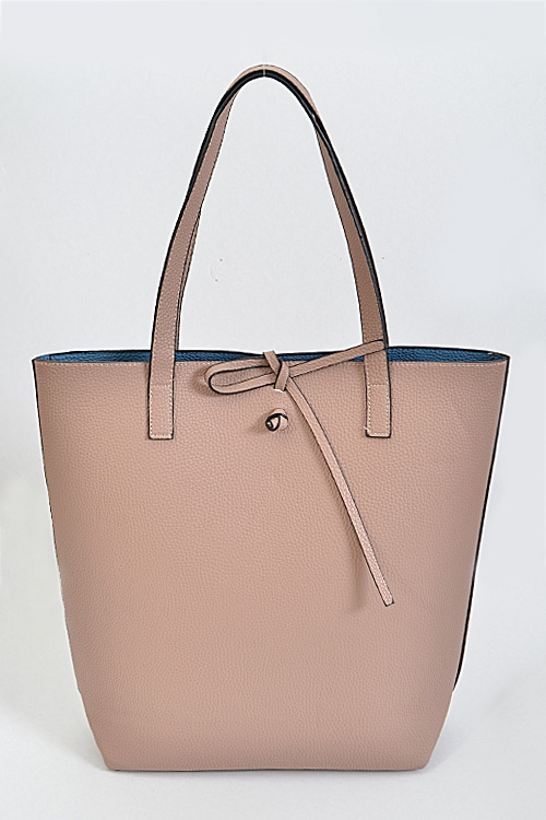 Reversible Leather Tote Bag - orangeshine.com