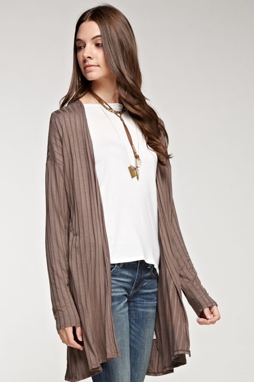 Ribbed knit cardigan - orangeshine.com