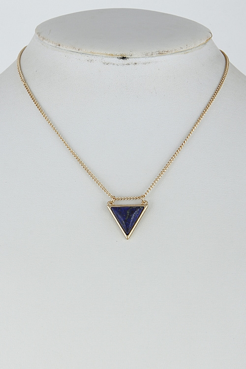 Triangle Shiny Stone Necklace - orangeshine.com