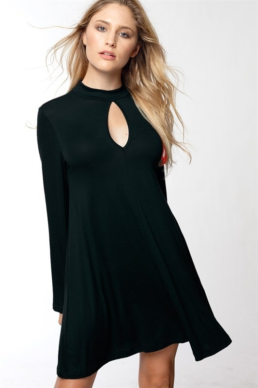 BELL SLEEVE SWING DRESS - orangeshine.com