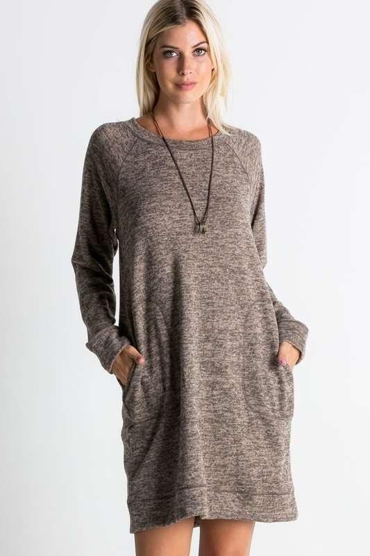 knee sweater dress - orangeshine.com