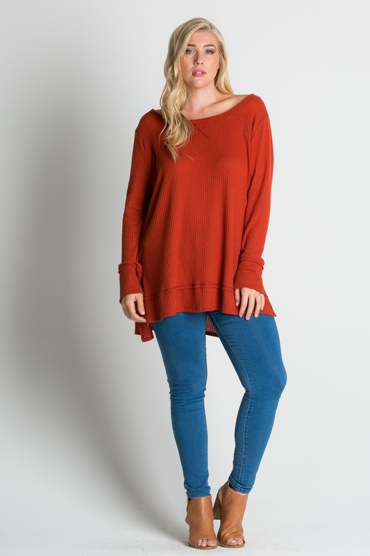 slitted sweatshirt top - orangeshine.com