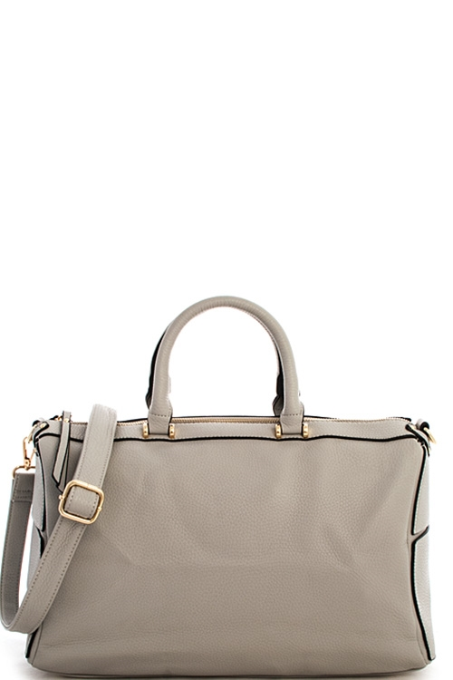 Top Handle Boston Bag Satchel  - orangeshine.com