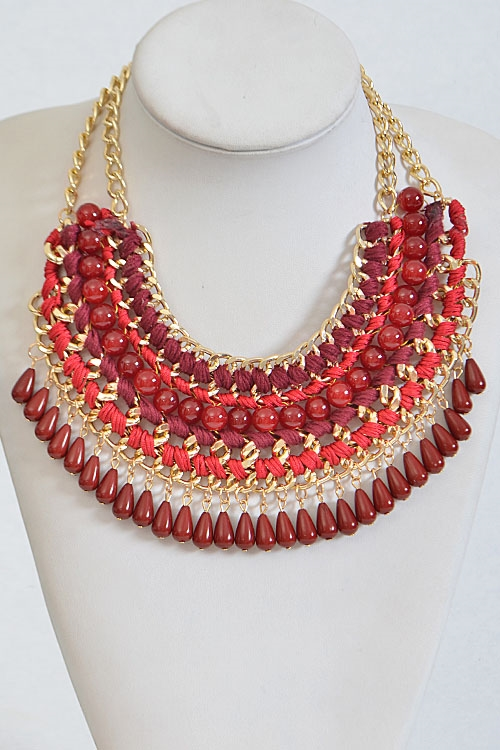 Multi Toned Statement Necklace - orangeshine.com