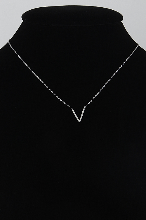 Simple Daily Chevron Necklace - orangeshine.com