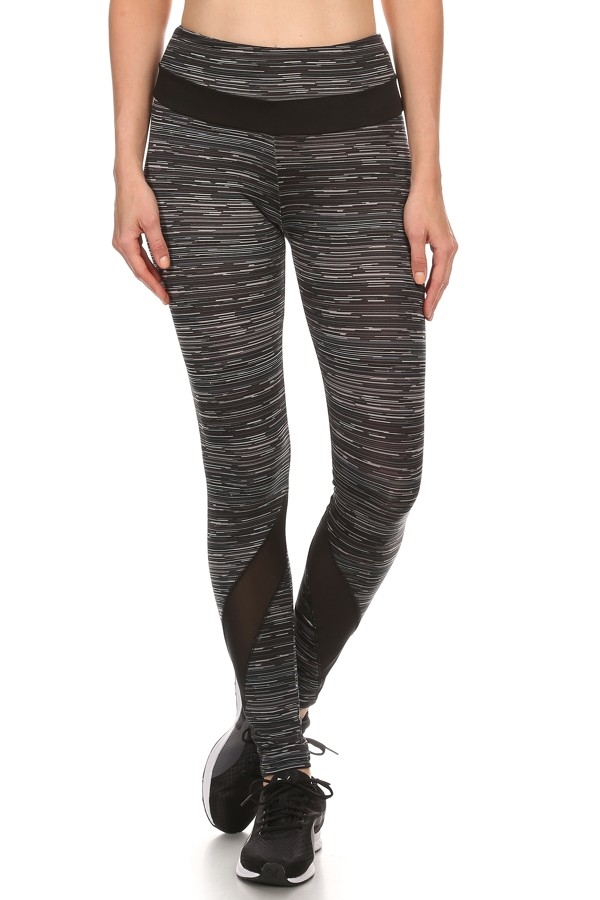 Space Dye Mesh Sport Leggings - orangeshine.com