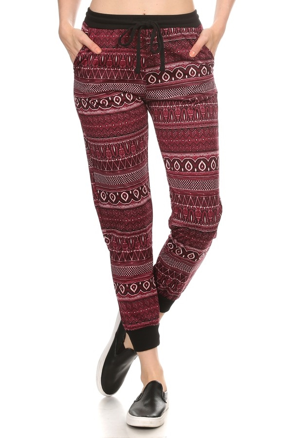 Aztec Joggers Pants Fleece - orangeshine.com
