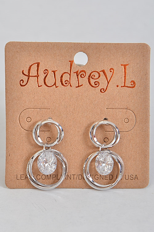Intertwined Circle Earrings - orangeshine.com