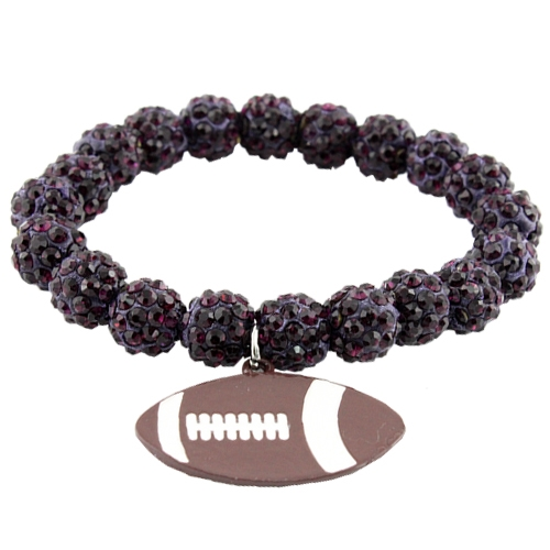 Bracelet with Football Pendant - orangeshine.com