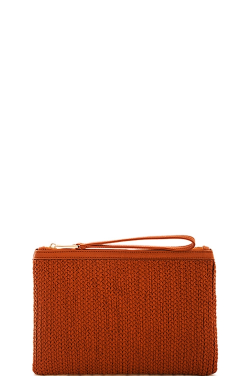 Street Level Woven Clutch - orangeshine.com