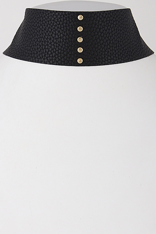 Thick Patterned Studded Choker - orangeshine.com