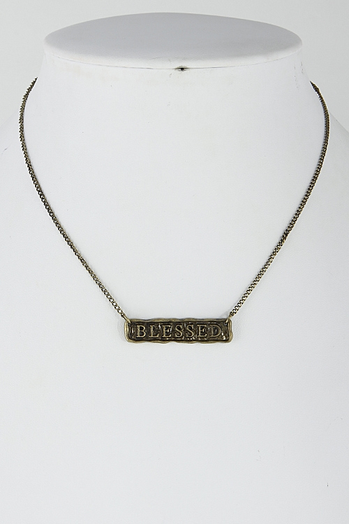 Blessed Simple Necklace - orangeshine.com