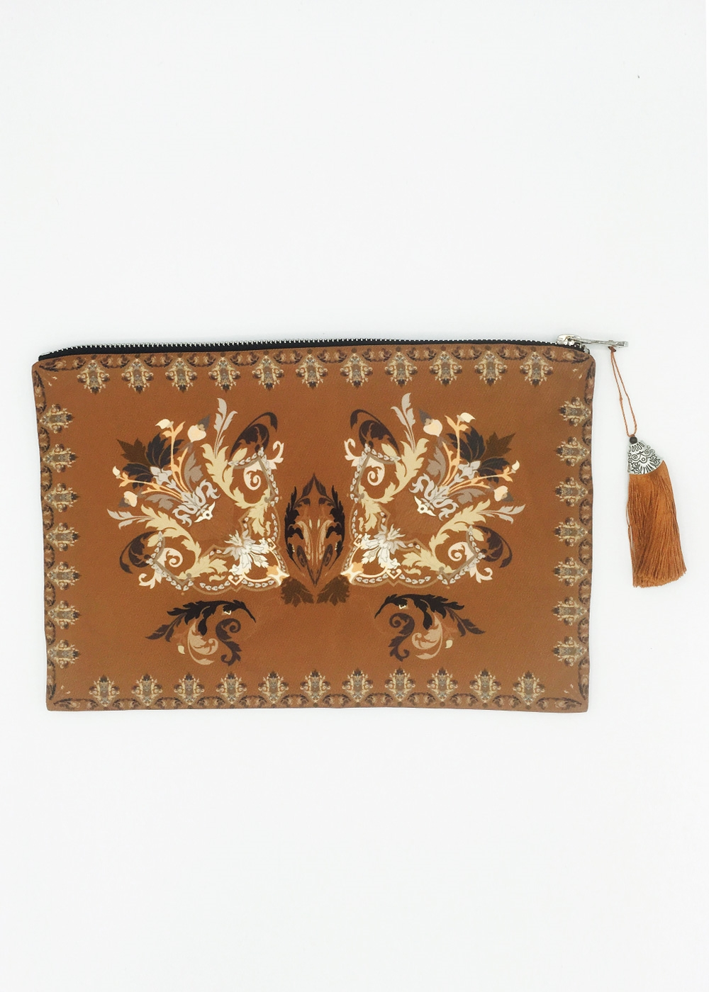 Brown Border Clutch - orangeshine.com
