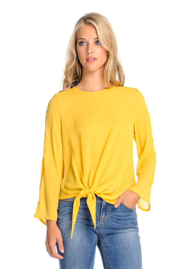 LONG SLEEVE FASHION SOLID TOP - orangeshine.com