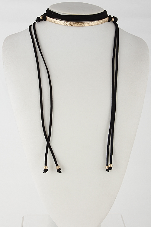 Wrap Around Choker Necklace - orangeshine.com