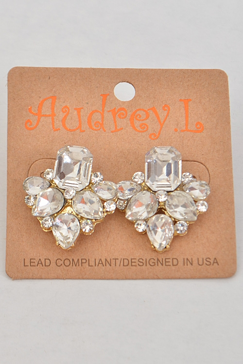 Party Rhinestone Earrings - orangeshine.com