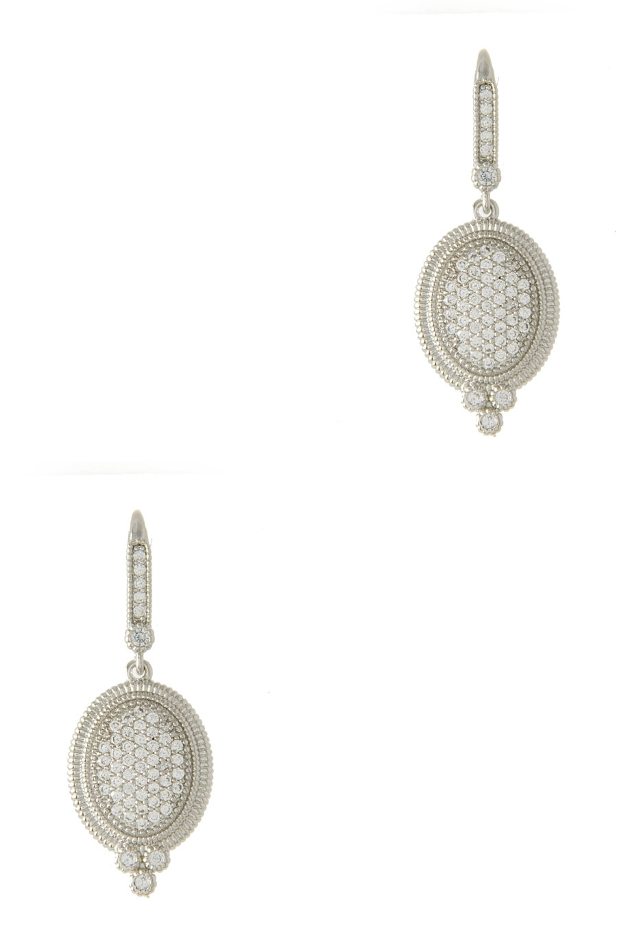 OVAL CRYSTAL PAVE EARRING - orangeshine.com